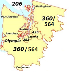 Area code map