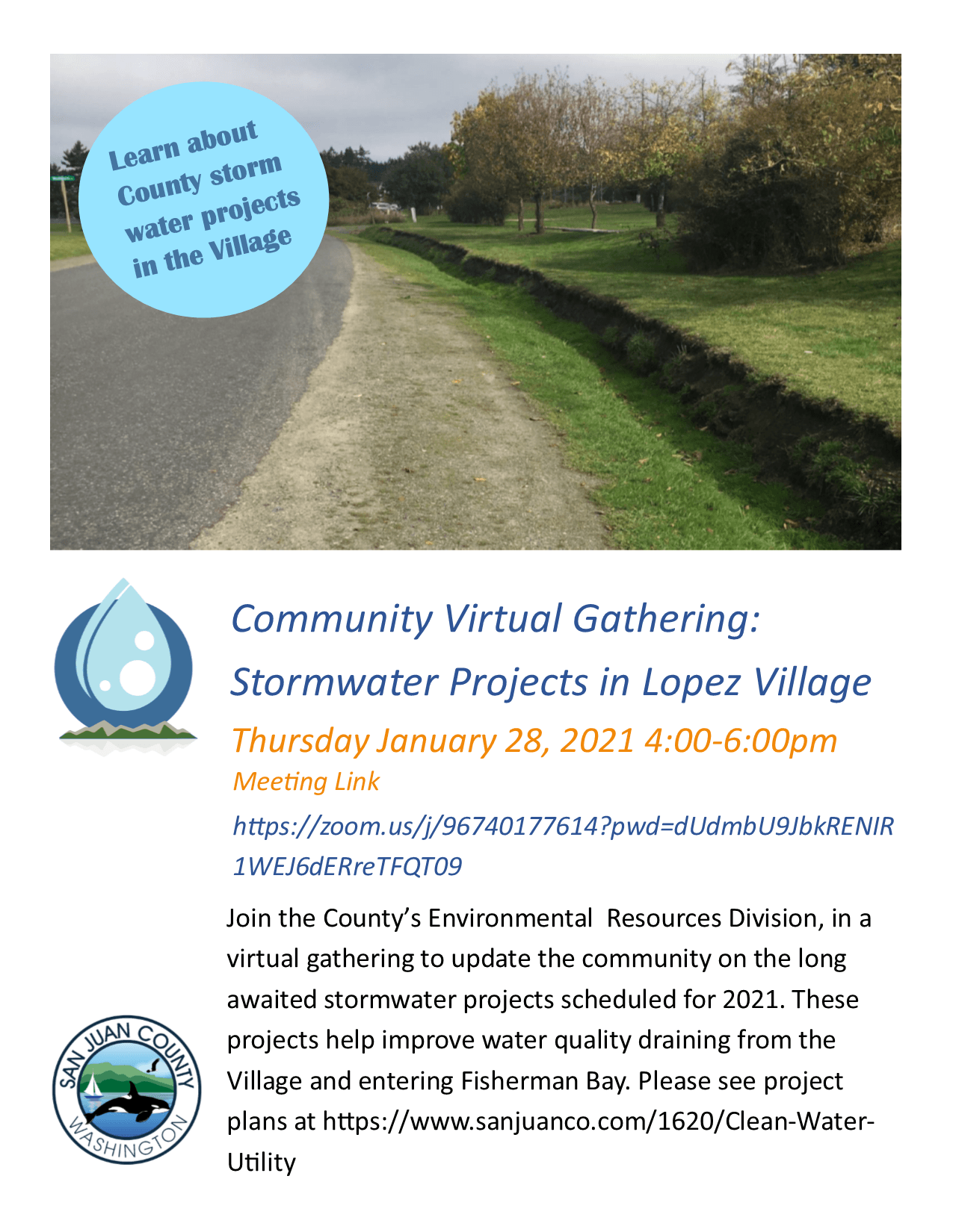 Stormwater Projects Flyer, Jan 28