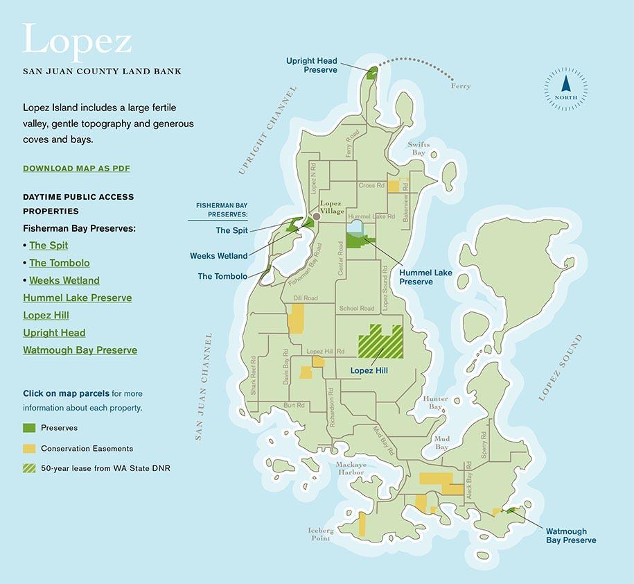 Map Lopez Island Lopez Island Map   San Juan County, WA