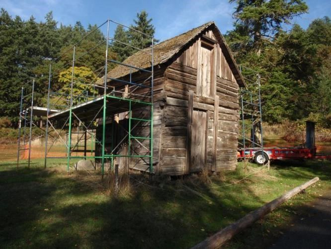 Cabin with Scaffolding