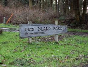 Shaw Island Park Sign